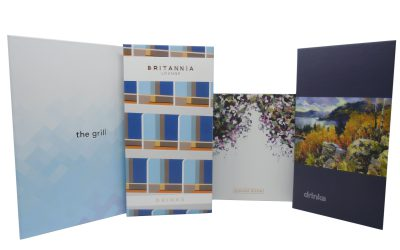 Menu Covers of Luxury Cruise Liner